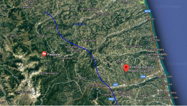 Google Maps Marche del Sud